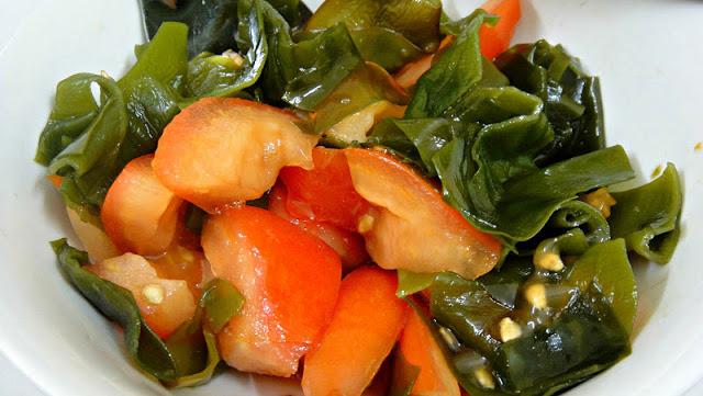 Algues et poivrons