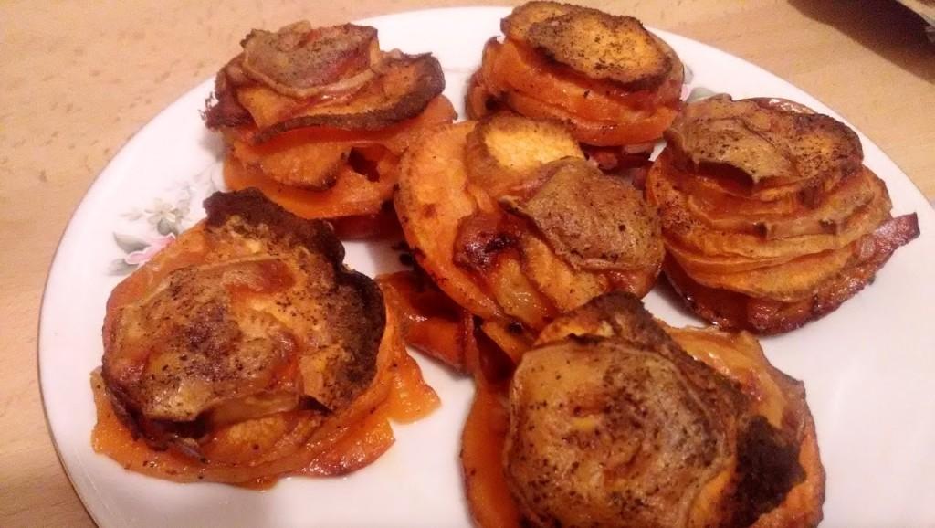 Rosettes de patate douce